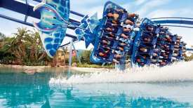 Manta lets you find out what it?s like to spin, glide, skim and fly like a giant ray when you experience the only flying roller coaster of its kind in the world. A seamless blend of up-close animal encounters with a head-first, face-down thrill ride, Manta is an adventure only SeaWorld could create.